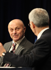 Eugene Fama with moderator Robert Litterman